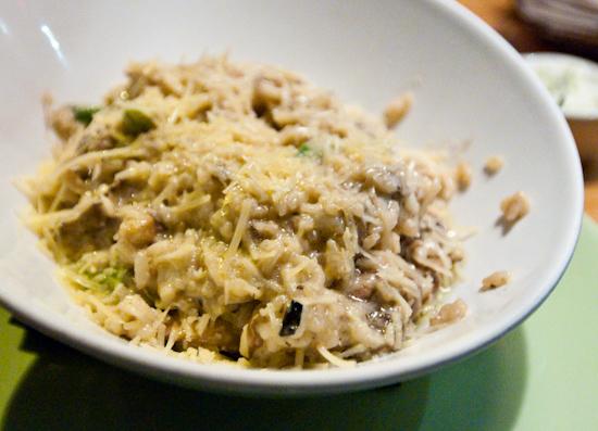 South Congress Cafe - Wild Mushroom Asparagus Risotto