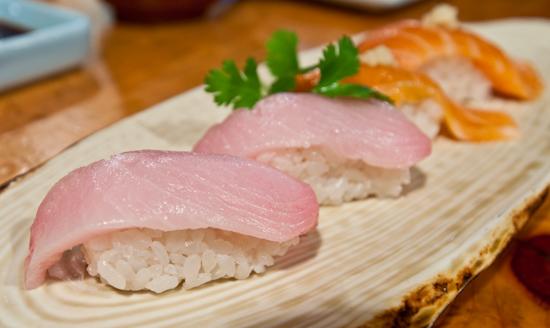 Musashino Sushi Dokoro - Hamachi and Sake Toro Nigiri