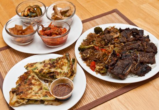 Left over korean food