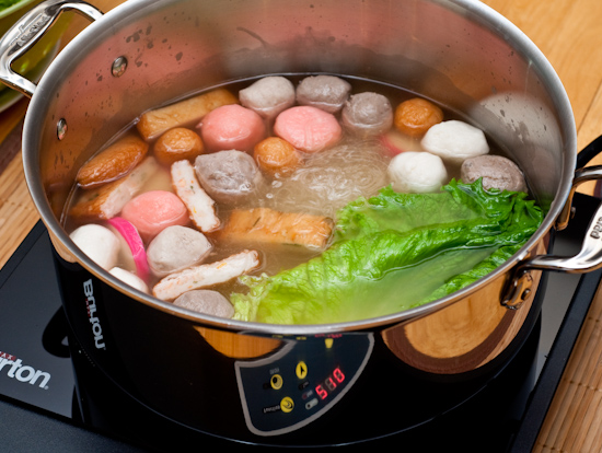 Hot Pot with Clad Pot and Induction Cooktop