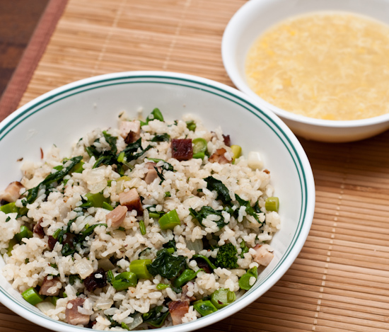 Pork Belly and Broccoli Rabe Fried Rice