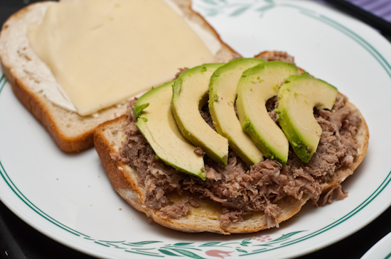 Roast Beef and Avocado Sandwich