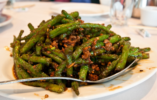 Yang Chow - Dry Sauteed String Beans with Minced Pork