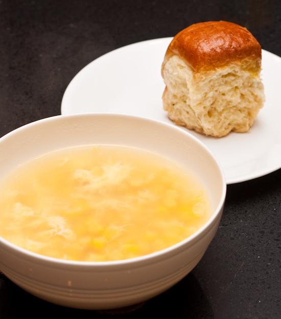 Corn Soup and Brioche