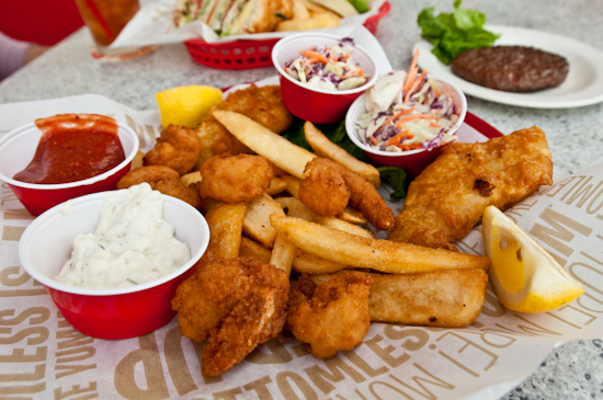 Red Robin - Shrimp and Cod Duo