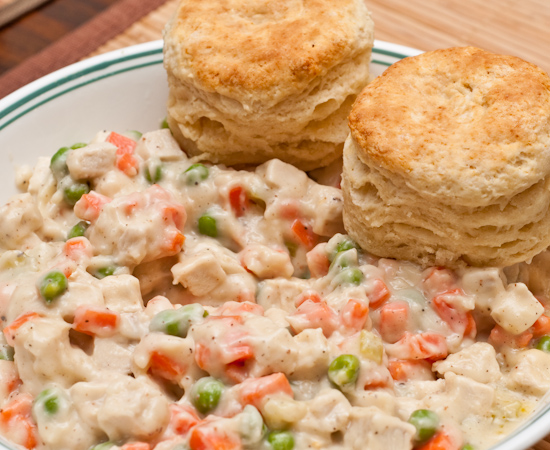 Biscuits and Creamed Chicken