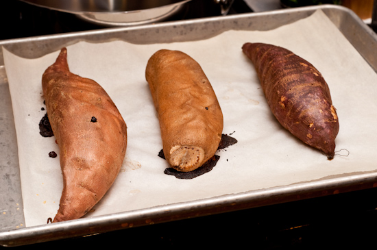 Garnet Yam, Jersey Sweet Potato, and Japanese Sweet Potato