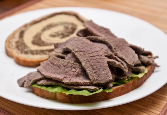 Homemade Corned Beef Sandwich
