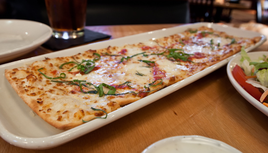 BJ's Brewhouse - Margherita Fresca Flatbread Appetizer Pizza