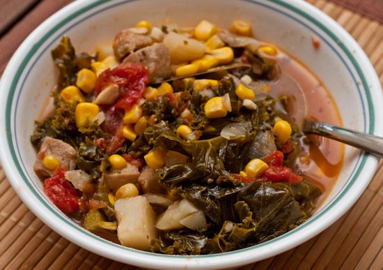 Kale Soup and Cornbread