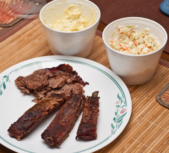 Leftovers from Rudy's BBQ