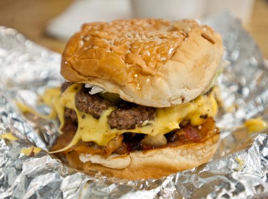 Five Guys Burger and Fries - Bacon Cheeseburger
