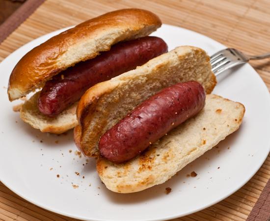 Kiolbassa brand Mesquite Smoked Beef sausages
