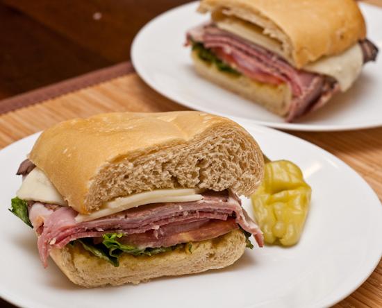 Leftover Panera Bread Italian Combo Sandwich
