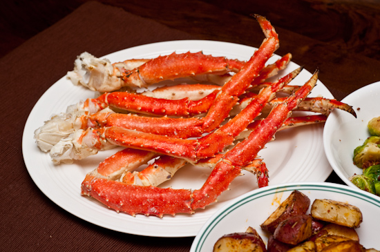 Steamed Alaskan King Crab legs