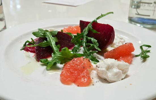 Rio Star Grapefruit Dinner at FINO - Beet & Rio Star Grapefruit Salad