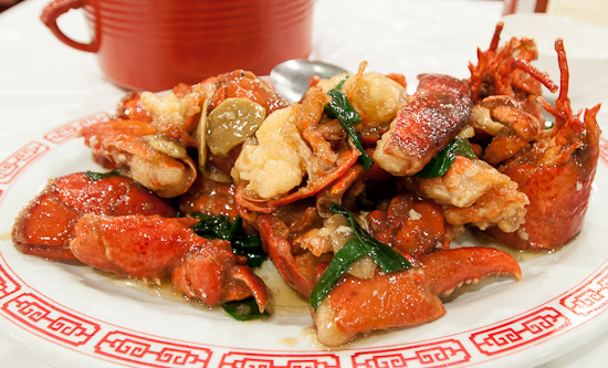 Baked Lobster with Ginger and Green Onion